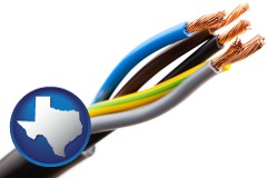 texas five electric wires in an electrical cable