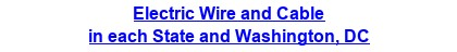 Electric Wire & Cable in each State and Washington, DC